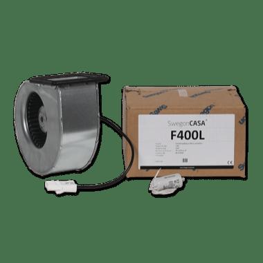 Puhallinpakkaus F400 L-mallin tulo / poisto